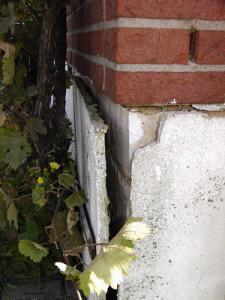 Bauschaden an einer Fassade